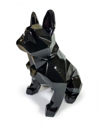 Статуэтка Bulldog полигональный черный лак