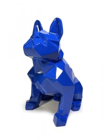 Статуэтка Bulldog полигональный синий лак