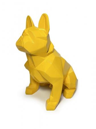 Статуэтка Bulldog полигональный желтый лак