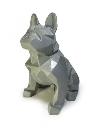 Статуэтка Bulldog полигональный серебро