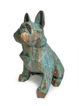 Статуэтка Bulldog Loft полигональный медная патина